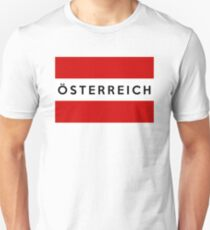 flag of austria Unisex T-Shirt