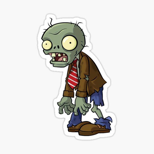 Regular Zombie from Plants vs Zombies Sticker