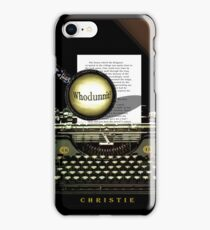 Agatha Christie Knows Whodunnit! iPhone Case/Skin
