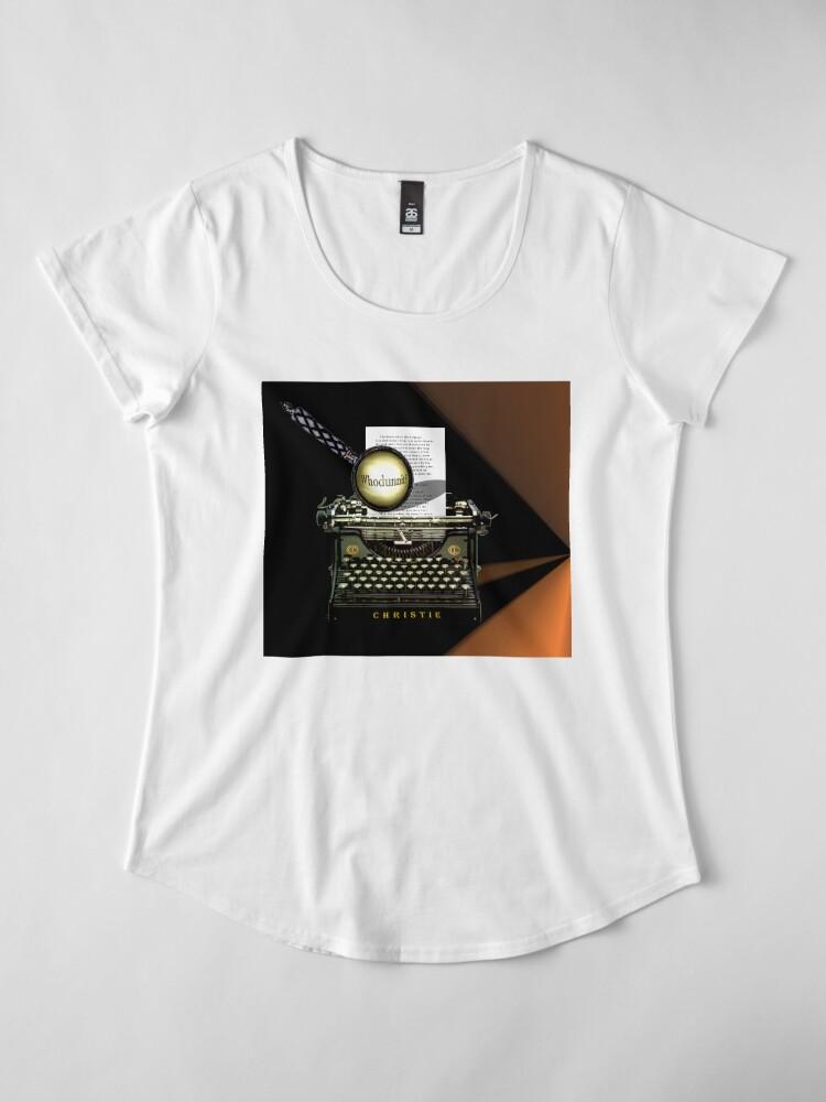 Alternative Ansicht von Agatha Christie kennt Whodunnit! Premium Rundhals-Shirt