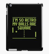 I'm so retro my balls are square iPad Case/Skin