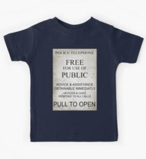 Police Box Sign Kids Clothes