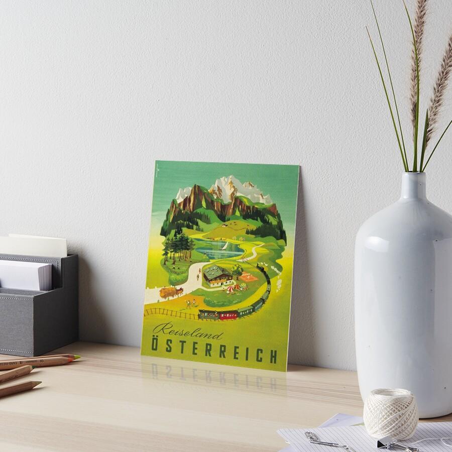 Weinleseplakat - Österreich Galeriedruck