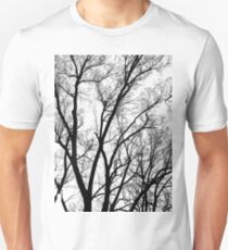 winter tree abstract texture T-Shirt