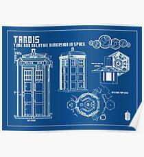T.A.R.D.I.S. Blueprint Poster