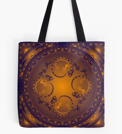 Orange Gecko Tote Bag