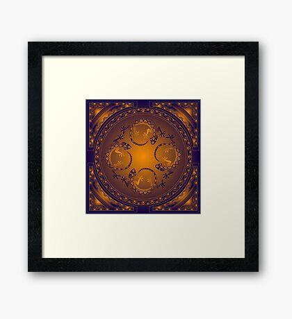 Orange Gecko Framed Print