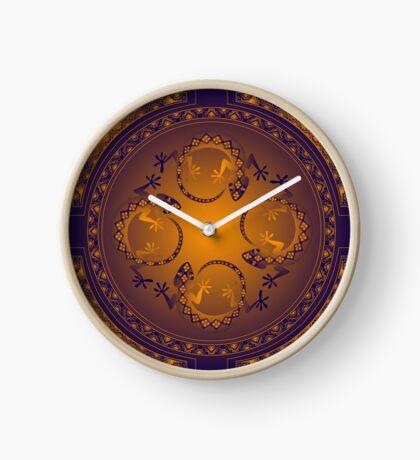 Orange Gecko Clock