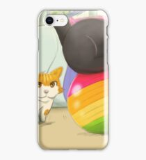 Ginger and Bella playing ball iPhone Case/Skin