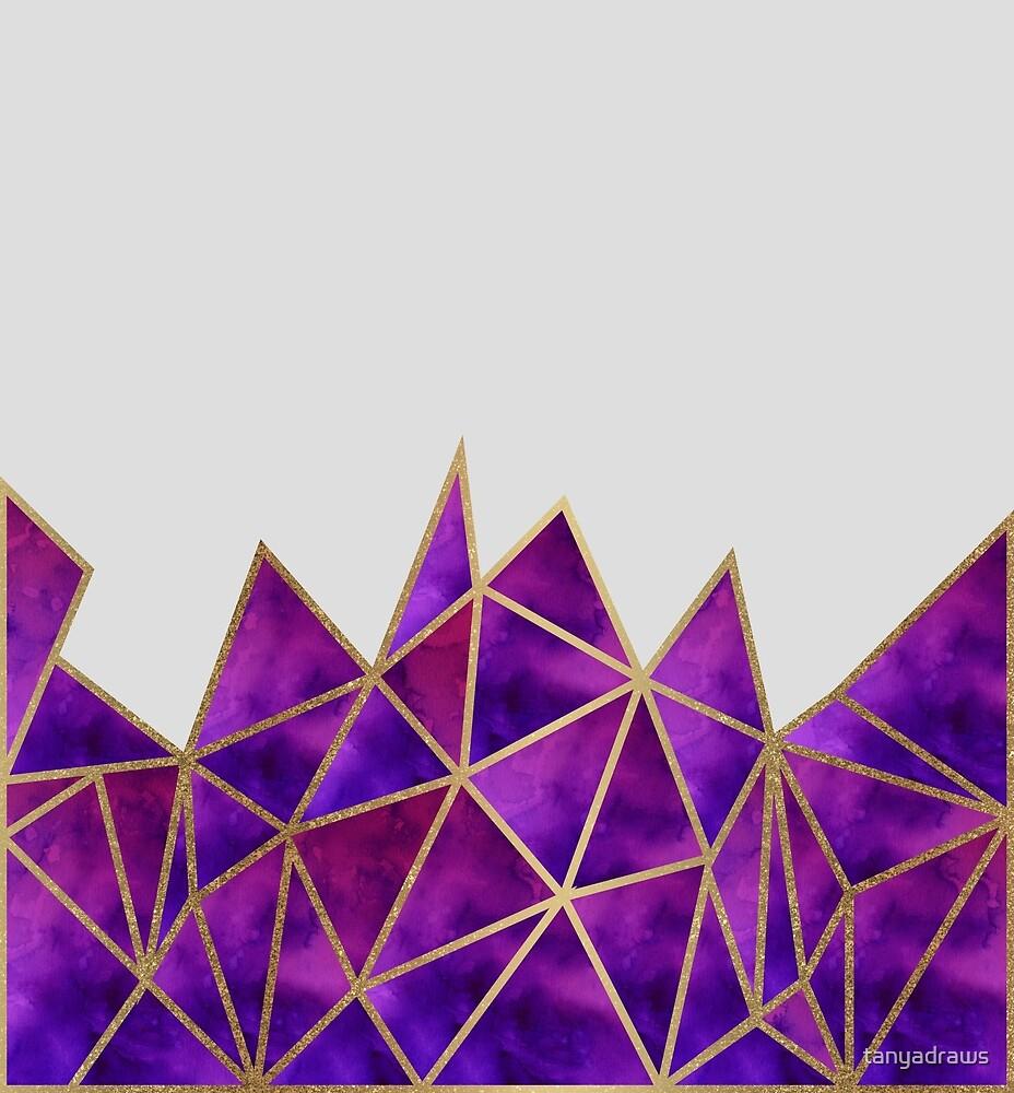 Galaxy & Gold Geometric by tanyadraws