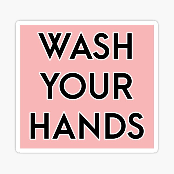 Wash your hands - pink [Public Health] Sticker