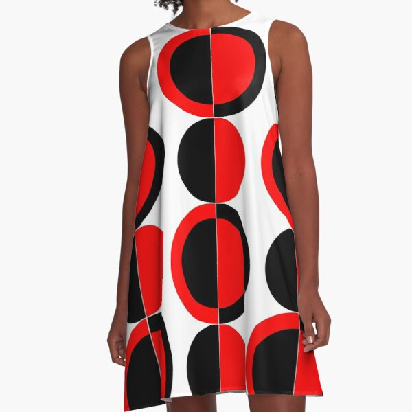 Mod Circles A-Line Dress