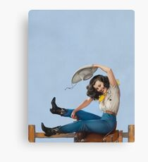Wild West Series Riding High Cowgirl Canvas Print