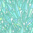 Crystal Pattern - Aquamarine by raelcsART