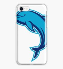 Blue Dolphin Jumping Retro iPhone Case/Skin