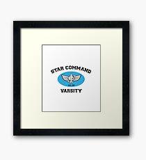 Toy Story Star Command Varsity Tee Framed Print