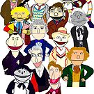 Twelve Doctors Plus the War Doctor Muppet Style by Qooze