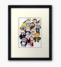 Twelve Doctors Muppet Style Framed Print