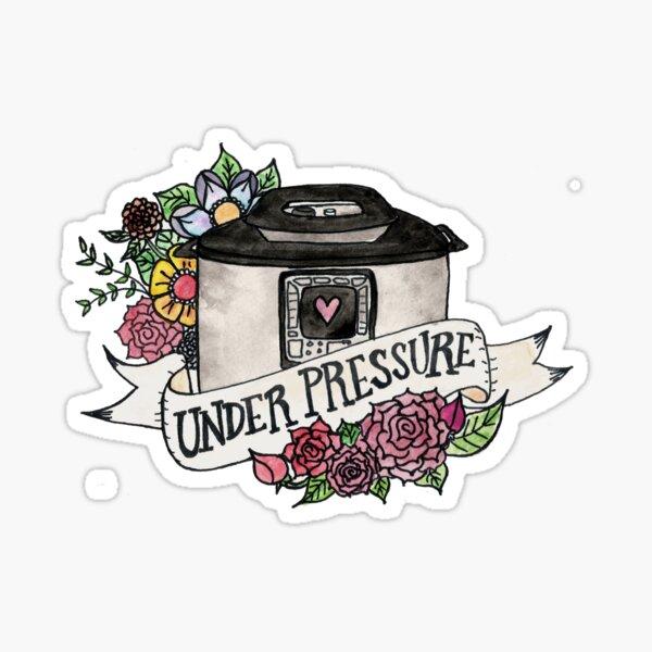 Pressure Cooker Instant Pot Tattoo Style Art Sticker