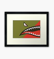Fighter Shark Framed Print