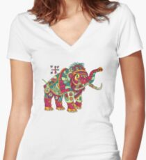 Mammoth, from the AlphaPod collection Women's Fitted V-Neck T-Shirt