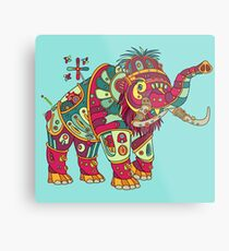 Mammoth, from the AlphaPod collection Metal Print