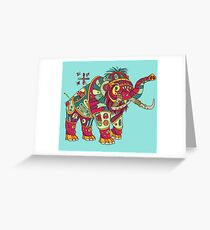 Mammoth, from the AlphaPod collection Greeting Card