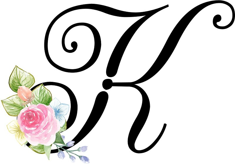 Fancy K Letter Altin Northeastfitness Co