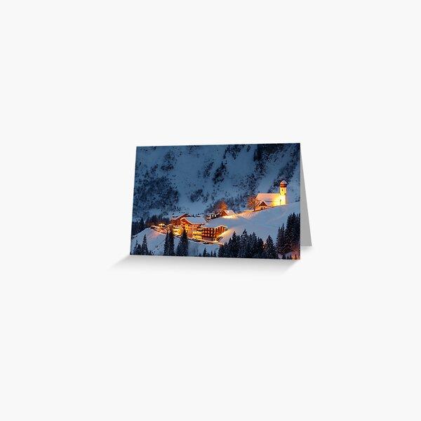 Ski Resort Grußkarte