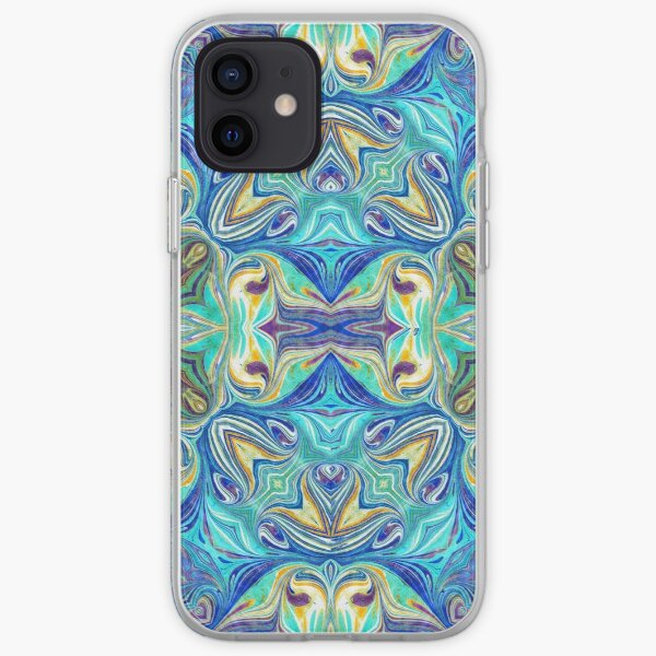 Marbled Flower iPhone Soft Case
