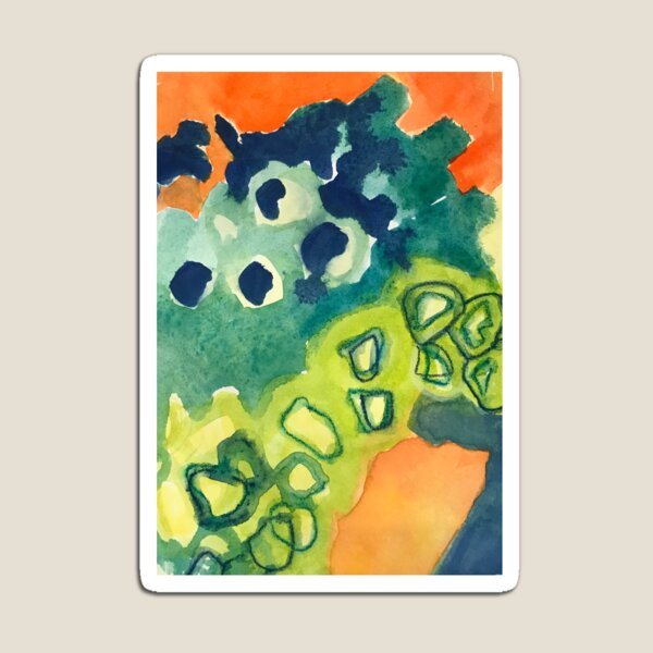 Lively Abstract Watercolor Design Magnet