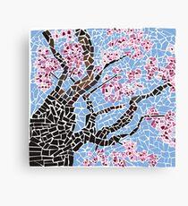 Cherry Blossom Tree Mosaic Adaptation Canvas Print