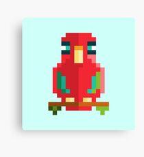 Scarlet Macaw Pixel Art Canvas Print