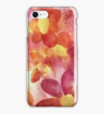 Pink & Yellow Floral Watercolor iPhone Case/Skin