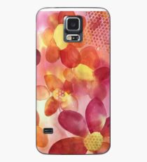 Pink & Yellow Floral Watercolor Case/Skin for Samsung Galaxy