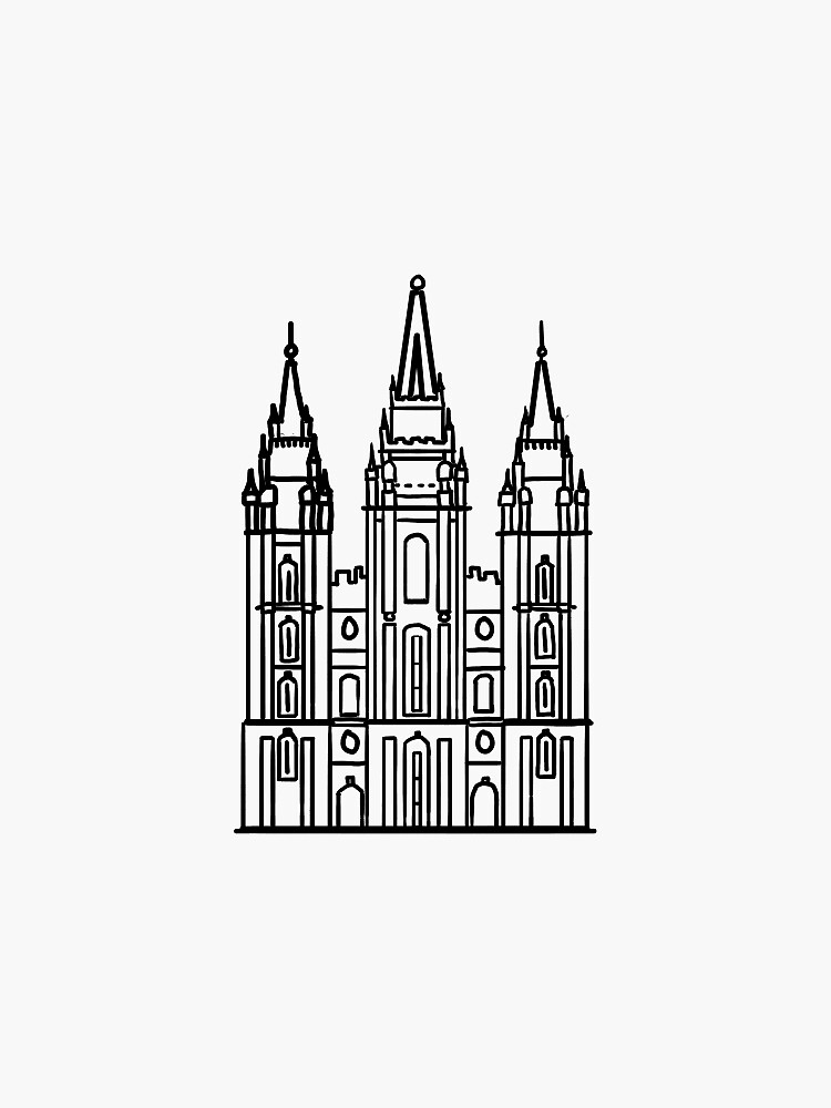 Mormon Temple by rikkiprice