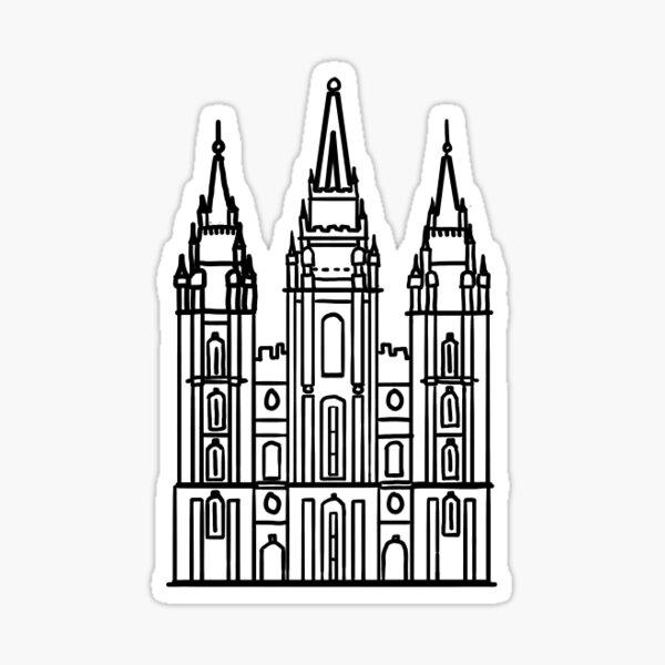 Mormon Temple Sticker
