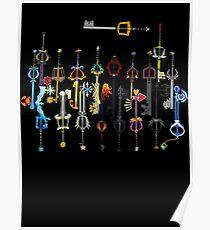 Kingdom Hearts Schlüsselschwerter Poster