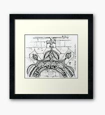 Mosteiro da Batalha sketch Framed Print