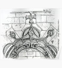 Mosteiro da Batalha sketch Poster