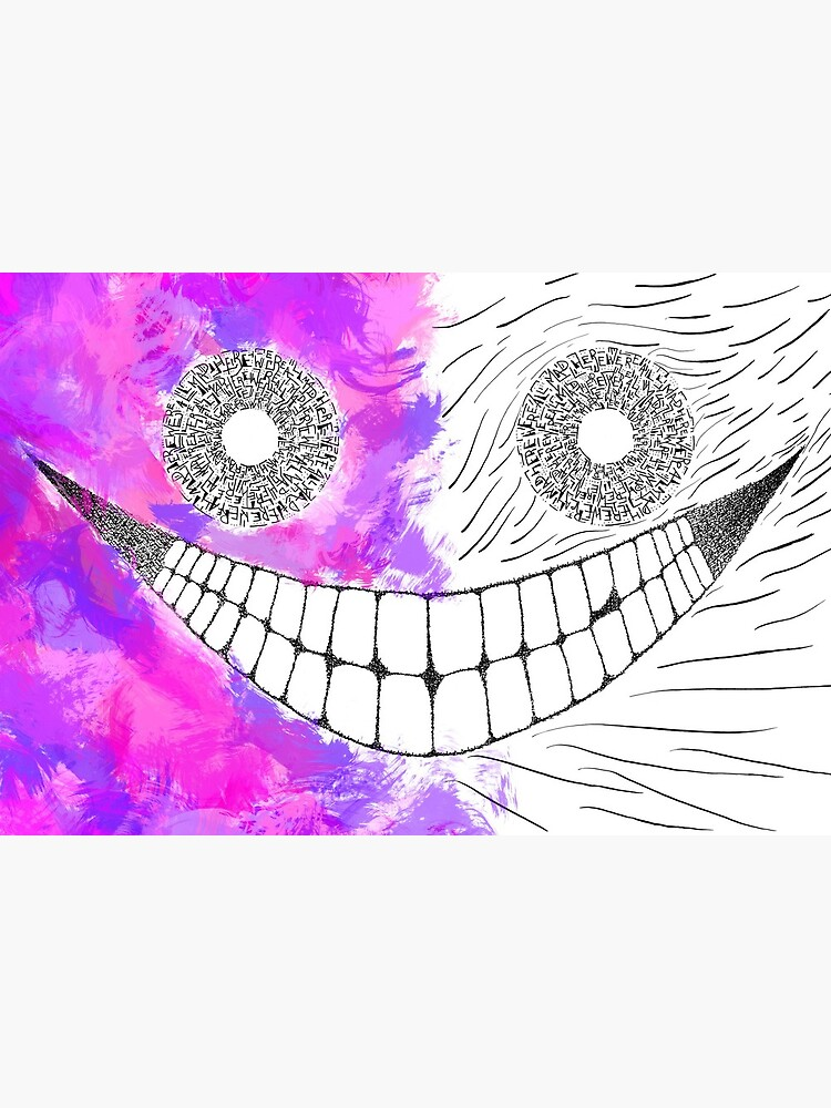 Cheshire Cat Alice In Wonderland Spooky Art Board Print By Mantisarts Redbubble