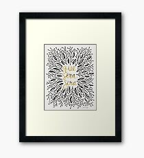 Whatever Will Be, Will Be (Black & Gold) Framed Print