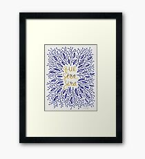 Whatever Will Be, Will Be (Navy & Gold) Framed Print