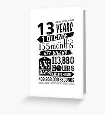 Funny 13th Birthday 13 Year Old Teen Sign Gag Gift Greeting Card