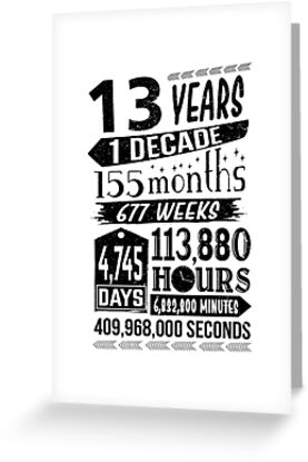 Funny 13th Birthday 13 Year Old Teen Sign Gag Gift By SpecialtyGifts