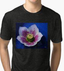 Hellebore Flower Head Tri-blend T-Shirt