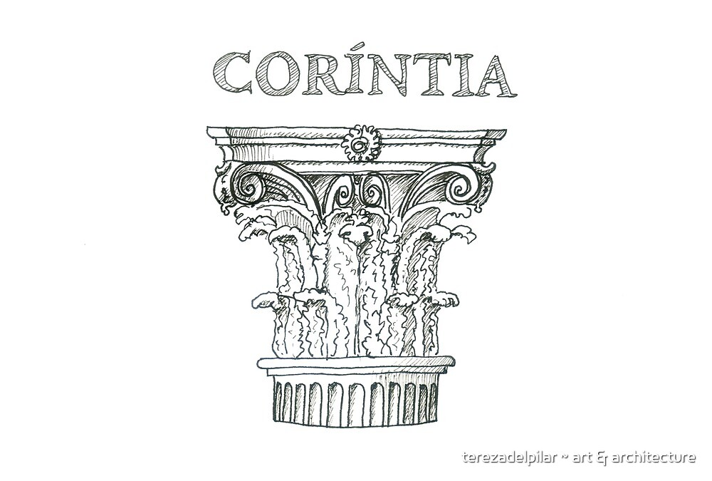 Ordem Coríntia. Corinthian Order. ipad by terezadelpilar ~ art & architecture