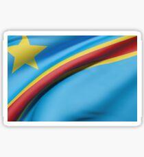 Democratic Republic of Congo flag waving Sticker