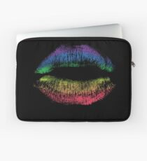 Rainbow Pride Kiss // LGBT Gay Rights Flag Lips Laptop Sleeve