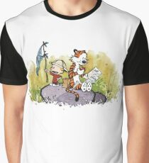 Calvin And Hobbes mapping Graphic T-Shirt